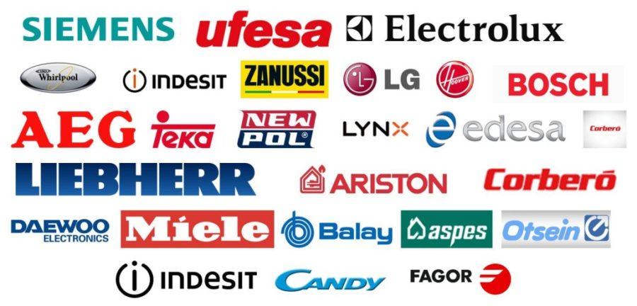 marcas electrodomesticos reparaciones marbella